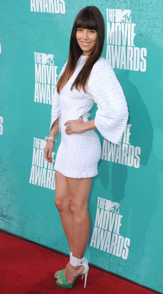Jessica Biel in Chanel at the 2012 MTV Movie Awards