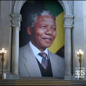 Memorials To Nelson Mandela Held At San Francisco, Oakland City Halls
