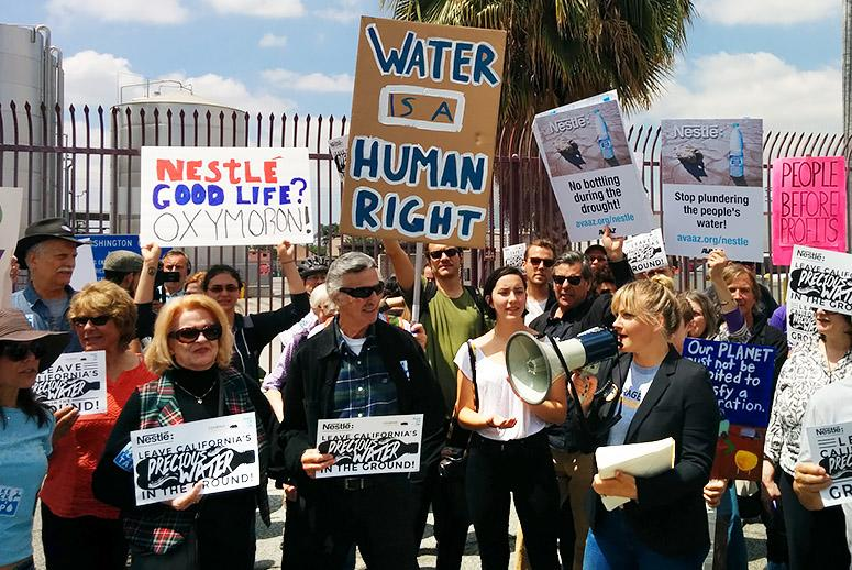 A Dry Demand: Protesters Tell Nestlé to Stop Bottling California Water