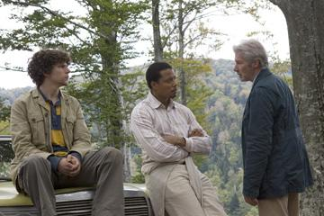 Jesse Eisenberg , Terrence Howard and Richard Gere in The Weinstein Company's The Hunting Party