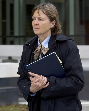 """FILE - In a Dec. 3, 2007 file photo, attorney Judy Clarke leaves the federal building in downtown Boise, Idaho. Public defenders are asking that Clarke, the attorney who defended Oklahoma City bombing conspirator Timothy McVeigh and """"Unabomber"""" Ted Kaczynski, defend Jared Loughner. Loughner is charged with one count of attempted assassination of a member of Congress, two counts of killing an employee of the federal government and two counts of attempting to kill a federal employee.  He is scheduled to make his first federal court appearance Monday afternoon, Jan. 10, 2011 in Phoenix. (AP Photo/Troy Maben, File)"""
