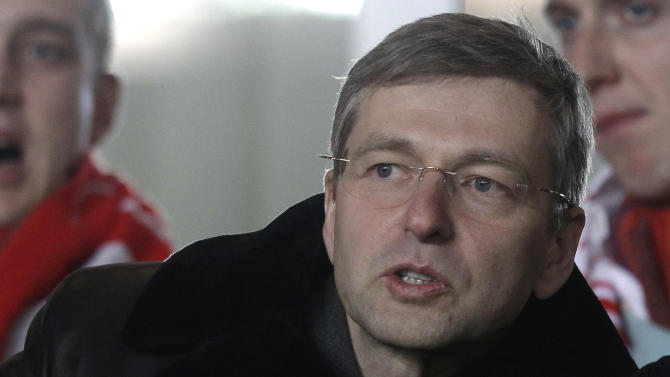 President of the football club AS Monaco, Dmitry Rybolovlev of Russia, attends the French League two soccer match Monaco vs Bastia, Monday, Feb. 13, 2012 in Monaco stadium. (AP Photo/Lionel Cironneau)
