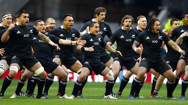 New Zealand's All Blacks do the Haka