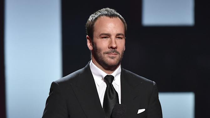 Tom Ford speaks on stage at the iHeartRadio Music Awards at The Shrine Auditorium on Sunday, March 29, 2015, in Los Angeles.  (Photo by John Shearer/Invision for iHeartRadio/AP Images)
