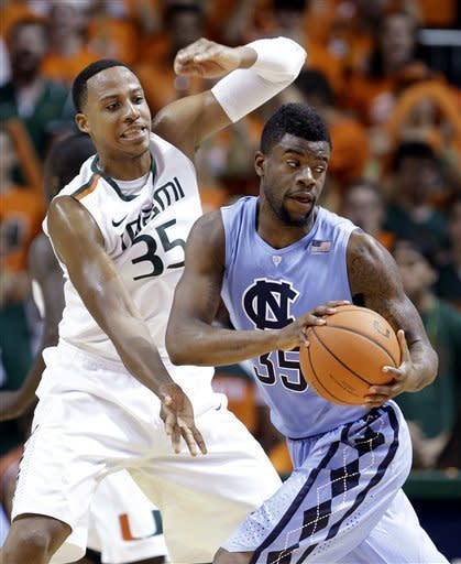 No. 8 Hurricanes drub North Carolina 87-61