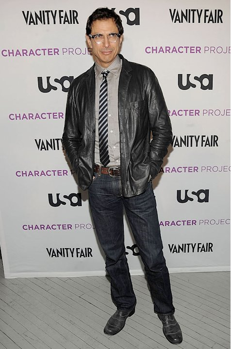 "Jeff Goldblum attends USA Network's ""American Character: A Photographic Journey"" launch event at the Stephan Weiss Studio on March 12, 2009 in New York City."