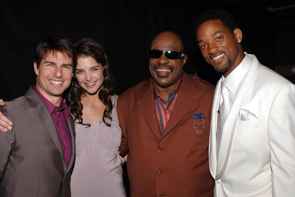 Tom Cruise Katie Holmes Stevie Wonder Will Smith 2005