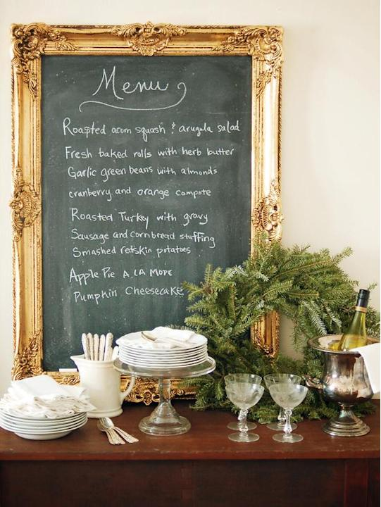 Chalkboard Party Menu