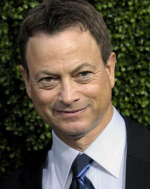 FILE - In this July 28, 2010 file photo, actor Gary Sinise arrives at the CBS CW Showtime press tour party in Beverly Hills, Calif. Sinise is canceling appearances with his Lt. Dan Band after suffering injuries in a car accident. A spokeswoman for the actor says Sinise was a passenger in a car involved in an accident on March 30. The 57-year-old Sinise was to perform with his band at a fundraising event last weekend in Martinsville, Va., and next week in Palm Desert, Calif. (AP Photo/Dan Steinberg, File)