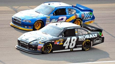 Jimmie Johnson and Brad Keselowski