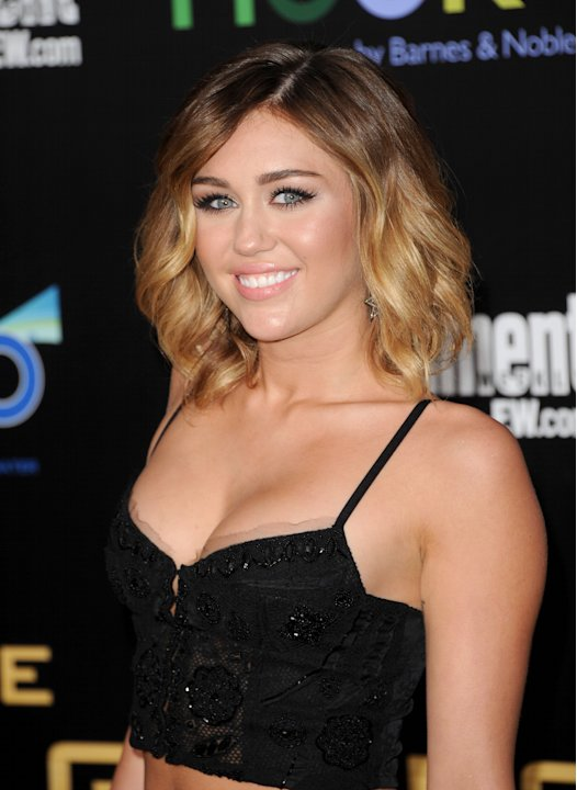 "Miley Cyrus at ""The Hunger Games"" Premiere"