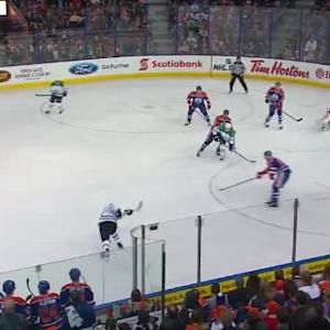 Richard Bachman Save on Alex Goligoski (13:23/1st)