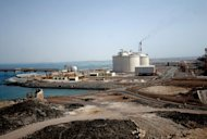 File photo of the Balhaf liquefied natural gas (LNG) plant on the Gulf of Aden in Yemen. Suspected Al-Qaeda militants blew up a gas pipeline supplying Yemen&#39;s Balhaf export terminal in the Gulf of Aden, the second such attack in a month, a government official said on Monday