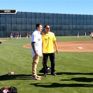 Johnny Manziel meets Boston Red Sox
