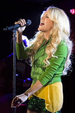 Carrie Underwood performs during her London showcase at The Arts Club on June 19, 2012 -- Getty Images