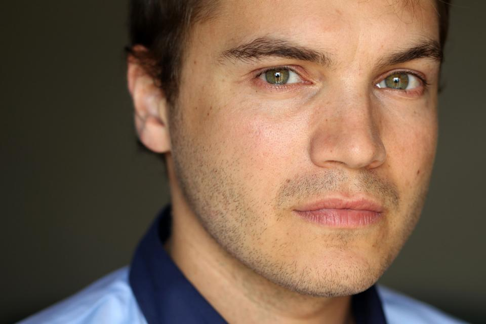 "This July 18, 2012 photo shows actor Emile Hirsch from the film ""Killer Joe""in Beverly Hills, Calif. The NC-17-rated film opens in theaters in New York on Friday and other major cities next week. (Photo by Matt Sayles/Invision/AP)"