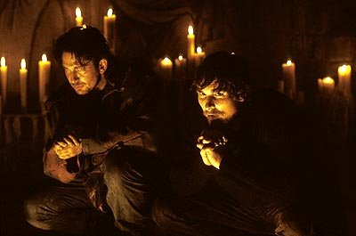 Gerard Butler and Christian Bale in Touchstone's Reign of Fire