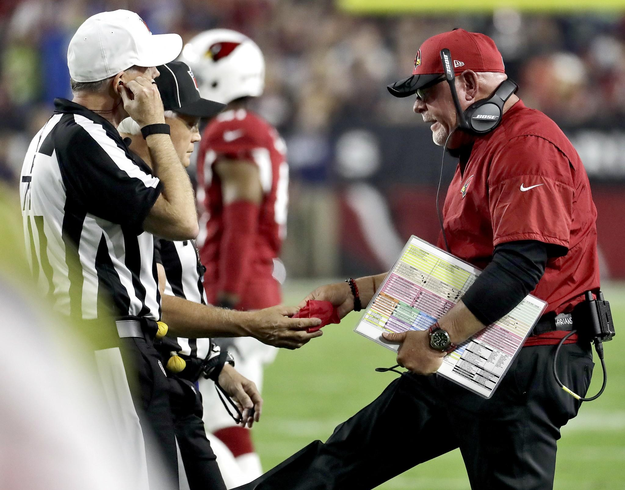 Bruce Arians had choice words about controversial block, missed chip-shot FG