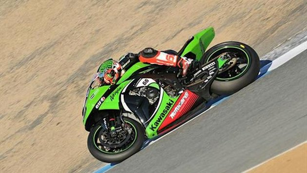 Laguna WSBK: Sykes wins first-race crash-fest
