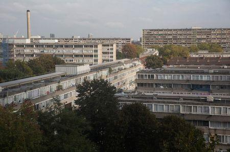 A view of the Aylesbury Estate in seen in south London, Britain