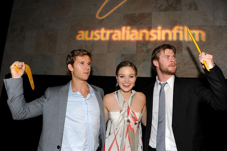 Australians In Film's 2010 Breakthrough Awards Ryan Kwanten Bella Heathcote Chris Hemsworth