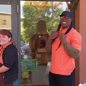 Vernon Davis goes undercover at the Jamba Juice he owns