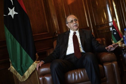 Libyan Prime Minister Abdel Rahim al-Kib gives an exclusive interview to AFP at his office in Tripoli on July 12. Kib has predicted a bright future for foreign investment in Libya especially in the oil sector whose infrastructure needs to be overhauled