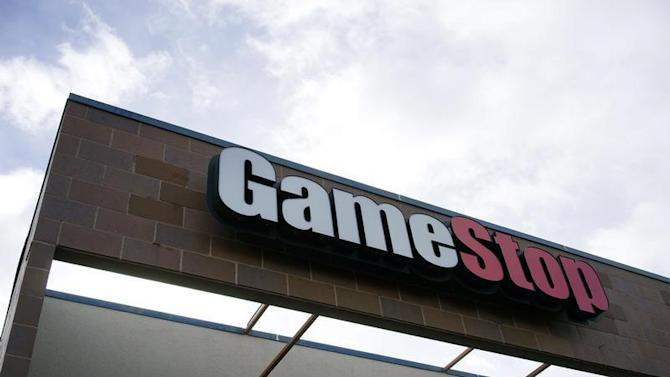 The GameStop store sign is seen at its shop in Westminster