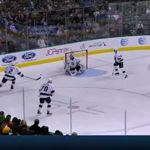 Jonathan Quick Save on Antoine Roussel (03:53/1st)