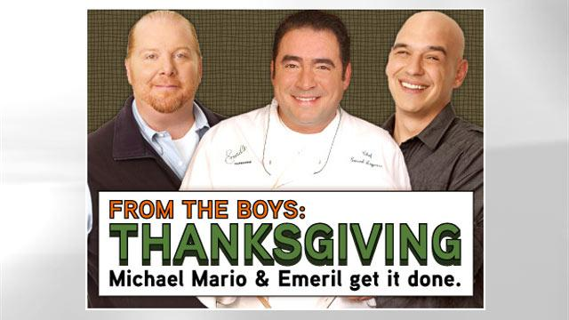 Thanksgiving From the Boys: Mario Batali, Emeril Lagasse and Michael Symon's Best Dishes