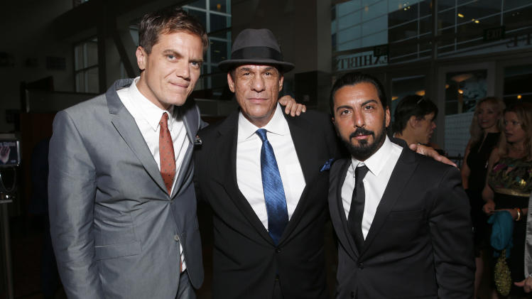 Michael Shannon, Robert Davi and Danny A. Abeckaser attend the DeLeon Tequila Premiere of The Iceman at the Arclight on Monday, April 22, 2013 in Los Angeles. (Photo by Todd Williamson/Invision for Millennium/AP)