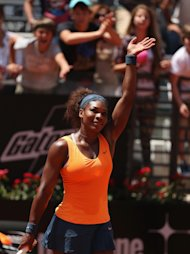 ROME, ITALY - MAY 18:  Serena Williams of the USA waves to the crowd after her straight sets victory against Simona Halep of Romania in their semi final match during day seven of the Internazionali BNL d&#39;Italia 2013 at the Foro Italico Tennis Centre  on May 18, 2013 in Rome, Italy.  (Photo by Clive Brunskill/Getty Images)