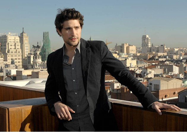 Matt Dallas at a photo shoot in Madrid, Spain.