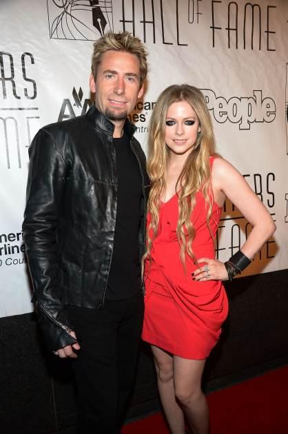 Chad Kroeger and fiancee Avril Lavigne attend the Songwriters Hall of Fame 44th Annual Induction and Awards Dinner at the New York Marriott Marquis on June 13, 2013 in New York City -- Getty Images