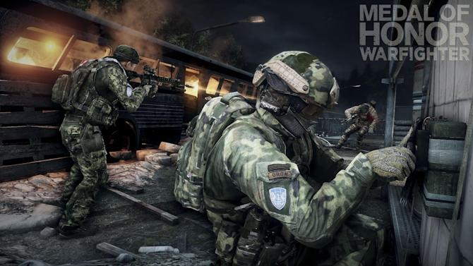 "This product image released by Electronic Arts shows action from the video game ""Medal of Honor: Warfighter."" Seven members of the secretive Navy SEAL Team 6, including one involved in the mission to kill Osama bin Laden, have been punished for allegedly divulging classified information to the maker of the game, senior Navy officials said Thursday, Nov. 8, 2012. (AP Photo/Electronic Arts)"