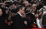 US actor Matt Damon arrives for the premiere of the movie &quot;Promised Land&quot; competing in the 63rd Berlin Film Festival on February 8, 2013