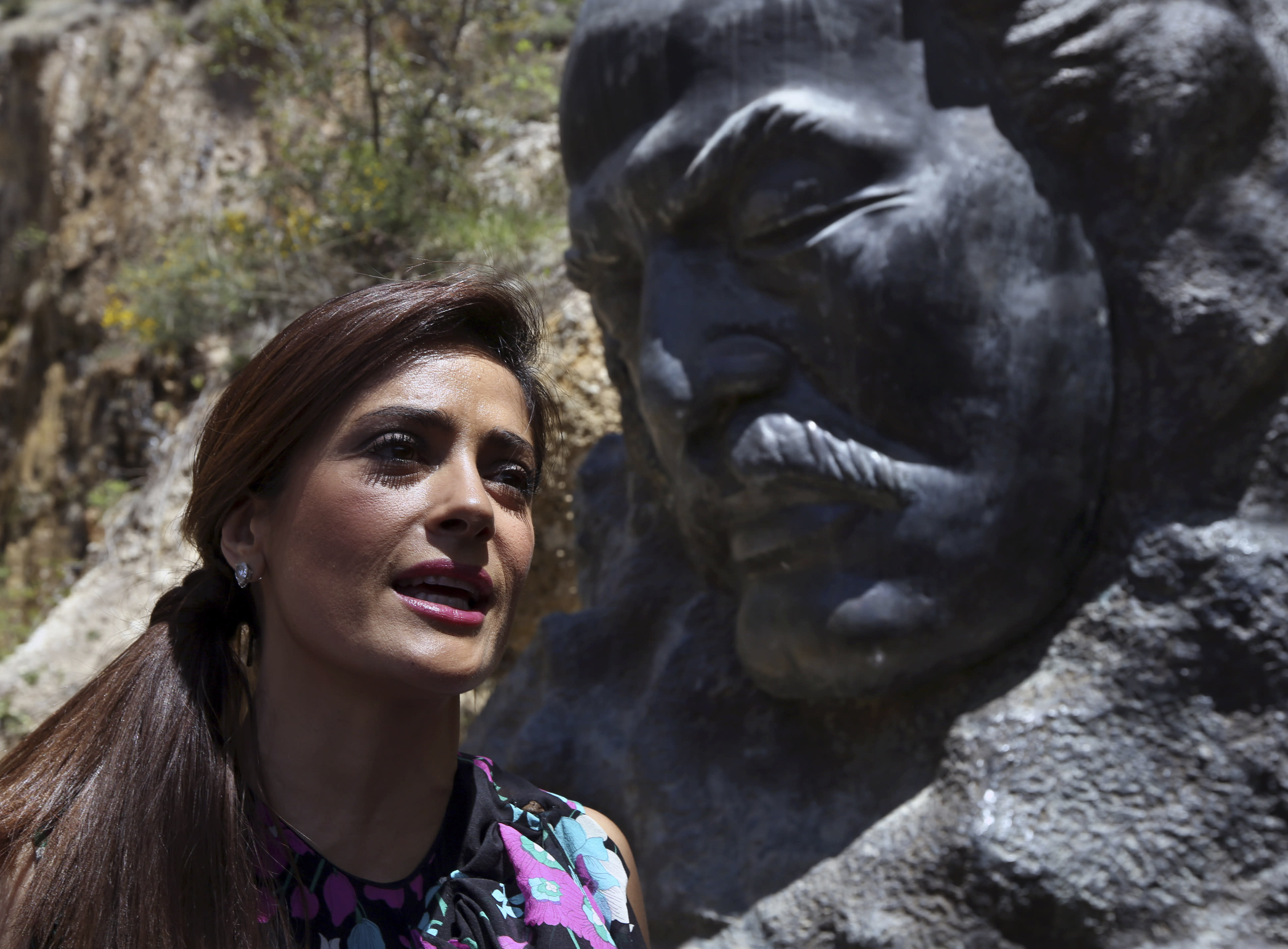 Salma Hayek visits Lebanon to launch film 'The Prophet'