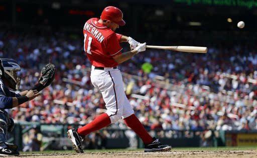 Gonzalez wins 20th, Nationals beat Brewers 10-4