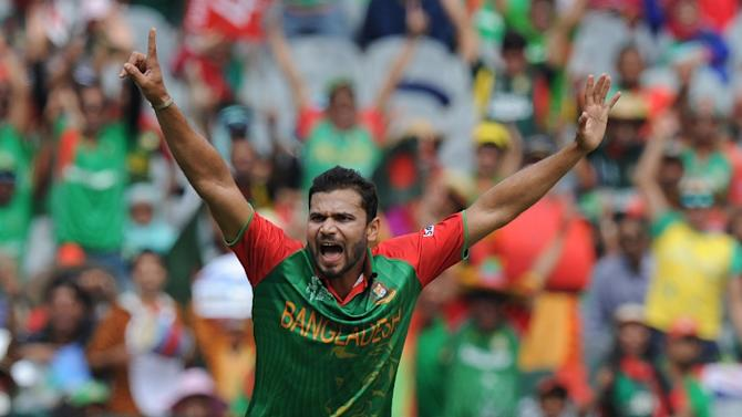 """It looks like there is moisture in the wicket and the ball will swing a bit,"" Bangladesh captain Mushrafe Mortaza (pictured) said"
