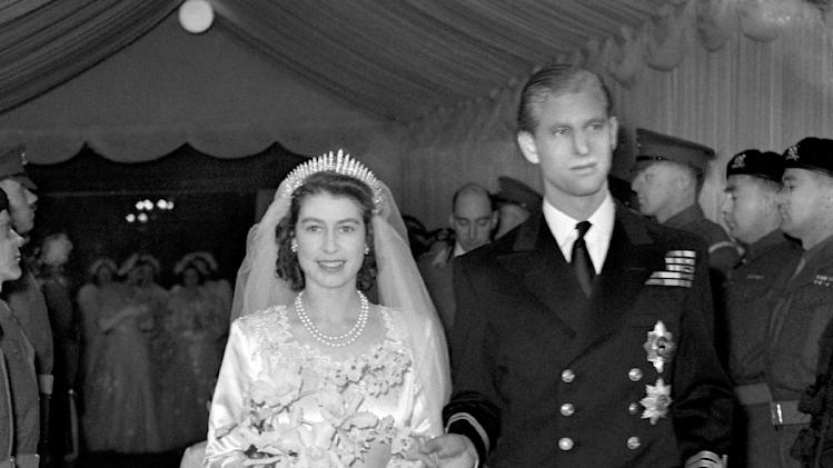 File - Photo dated Nov 20 1947 of Britain's Queen Elizabeth II and the Duke of Edinburgh as they leave Westminster Abbey in London,  after their marriage ceremony, when the Queen was still the Princess Elizabeth.   Queen Elizabeth II's husband has been taken to  hospital after experiencing chest pains, British royal officials said Friday Dec 23, 2011. A spokeswoman for Buckingham Palace said Prince Philip was taken from Sandringham, the queen's sprawling estate in rural Norfolk, to the cardiac unit at Papworth Hospital in Cambridge for