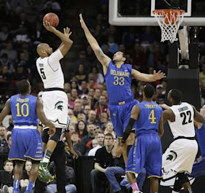 Payne scores 41, Spartans top Blue Hens 93-78