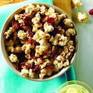 Spiced fruit and nut popcorn