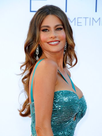 Actress Sofia Vergara from &quot;Modern Family&quot; arrives at the 64th Primetime Emmy Awards at the Nokia Theatre on Sunday, Sept. 23, 2012, in Los Angeles. (Photo by Jordan Strauss/Invision/AP)