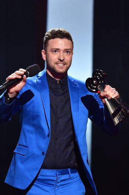 Justin Timberlake accepts the iHeartRadio Innovator Award onstage during the 2015 iHeartRadio Music Awards at The Shrine Auditorium on March 29, 2015 in Los Angeles -- Getty Images
