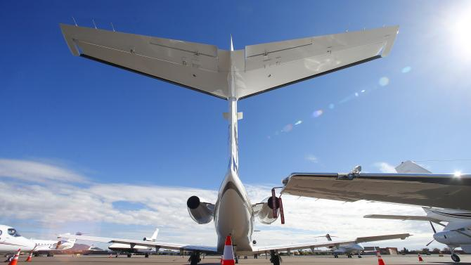 A growing number of private jets sit parked at Scottsdale Airport Tuesday, Jan. 27, 2015, in Scottsdale, Ariz.  With the NFL Super Bowl football game and the Phoenix Open PGA golf tournament in town the private jet traffic into the Phoenix-area airports is expected to increase