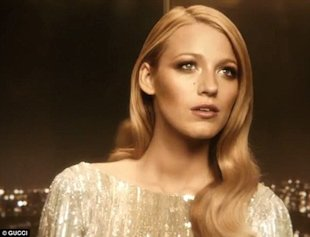 Blake Lively is golden for Gucci