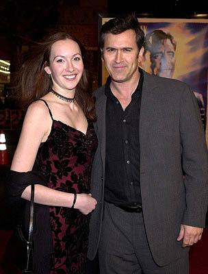 Premiere: Bruce Campbell and daughter at the Hollywood premiere of Warner Brothers' The Majestic - 12/11/2001