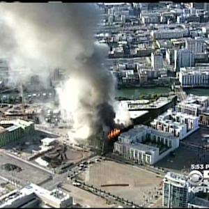 Time Lapse Of Massive Building Fire In San Francisco's Mission Bay