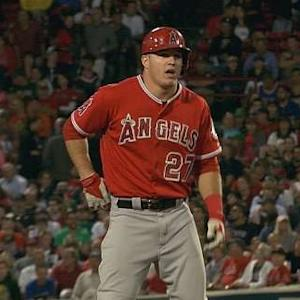 Trout's RBI double