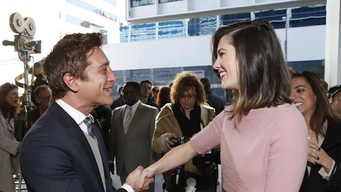 Film Independent Co-President Sean Mc Manus and Mary Elizabeth Winstead attend the Film Independent Spirit Awards Luncheon at BOA Steakhouse on Saturday, Jan. 12, 2013, in West Hollywood, Calif. (Photo by Todd Williamson/Invision/AP)